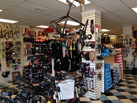 Bicycle accessories and clothing at The Bicyclery in Palm Beach County